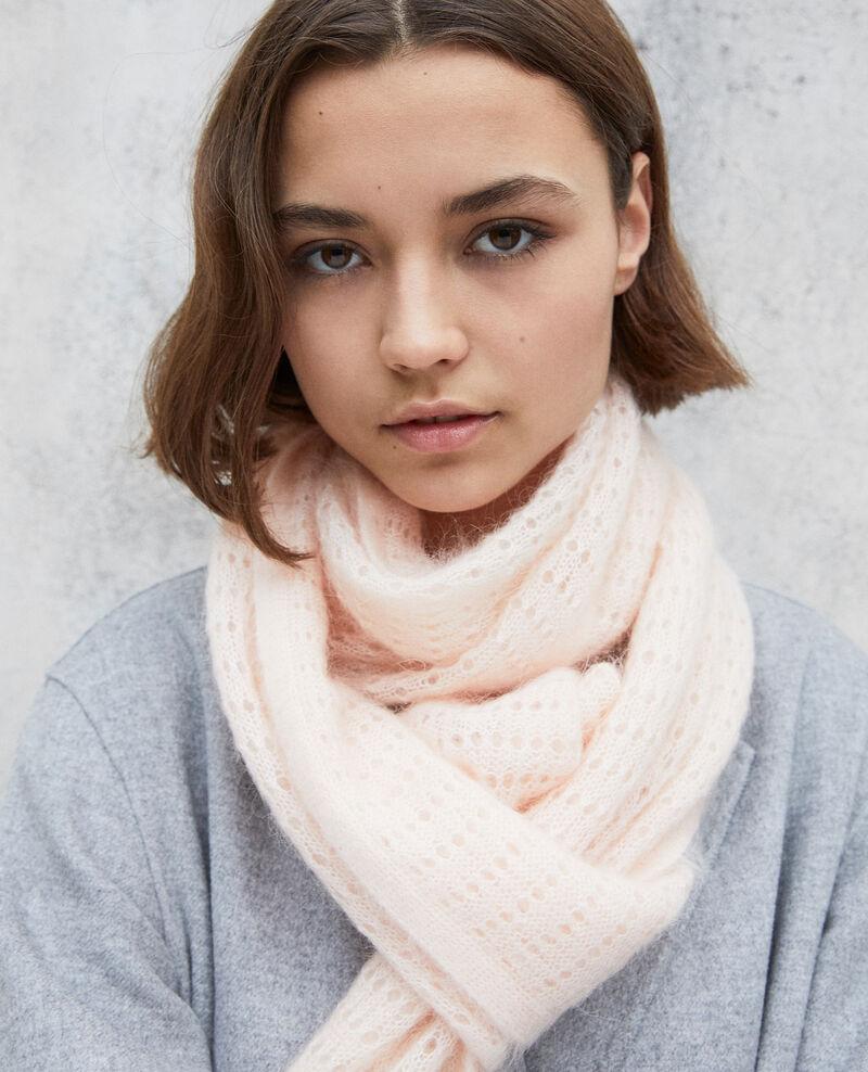 Schal aus Zierstrick Light pink Imohair