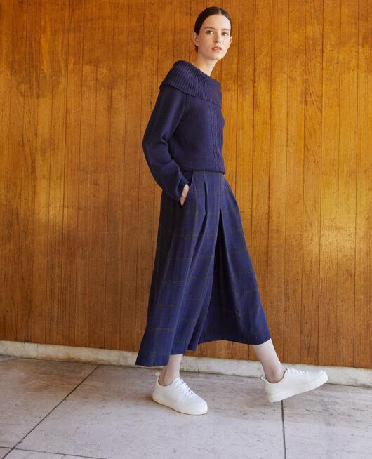 Ausgestellter Hosenrock Blau