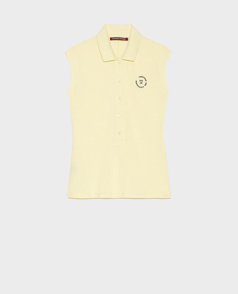 Polo-Shirt aus Piqué-Baumwolle Tender yellow Laurac