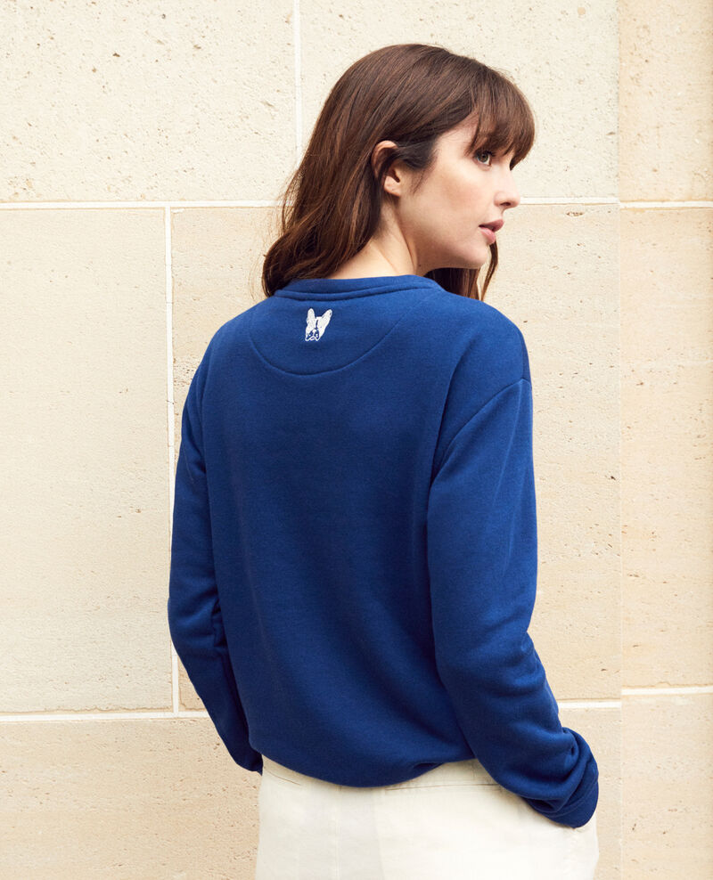 Sweatshirt mit Leon-Stickerei Dk indigo/ow Igleon