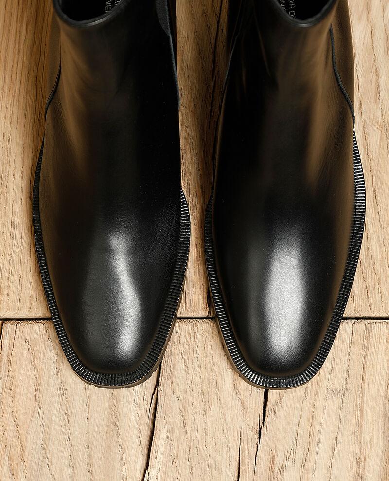 Stiefeletten aus Glattleder Noir Igomma
