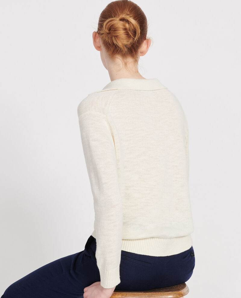 Pullover mit Leinen Gardenia Lamande