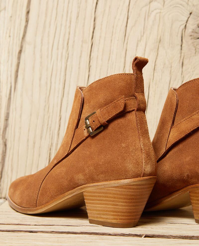 Stiefel aus Veloursleder Camel Issentiel