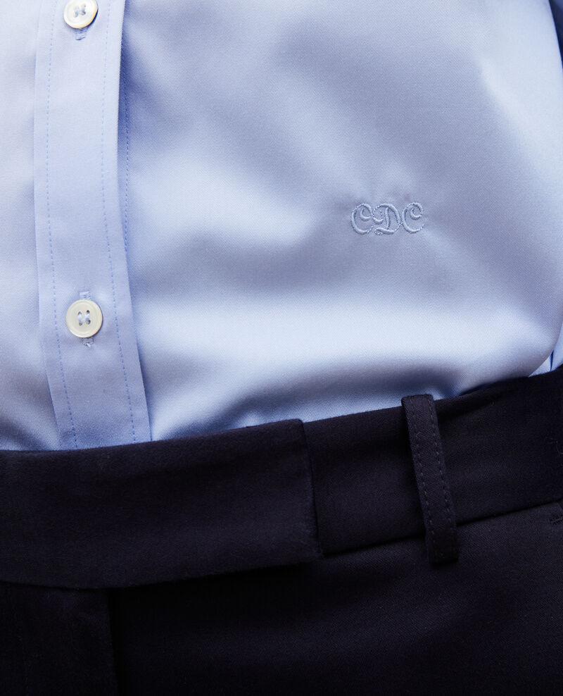 Baumwollbluse mit Rundhalsausschnitt Classic blue Mannion