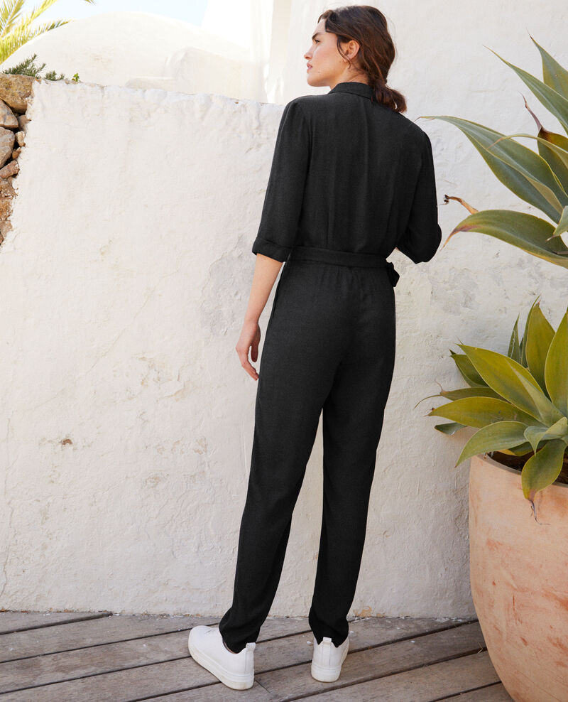 Jumpsuit in Wickeloptik Noir Giboga