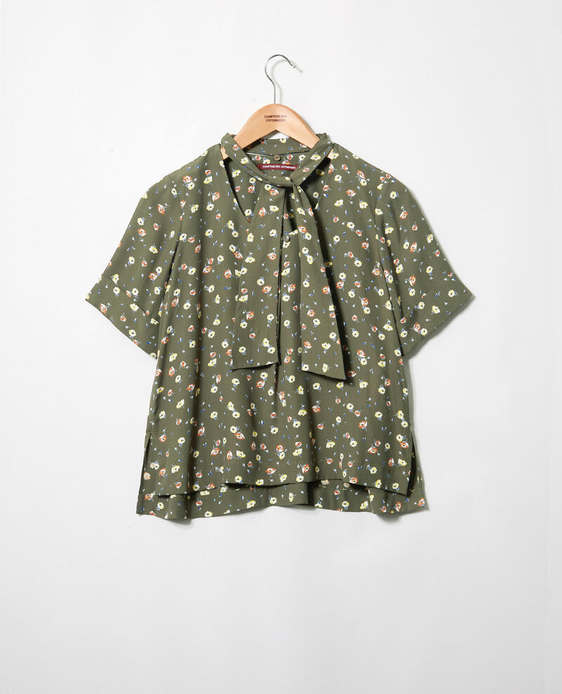 Gemusterte Bluse Coquelicot cheng olive 9ipexo