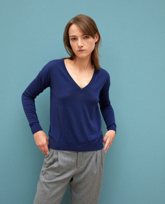 Pullover aus Merinowolle MEDIEVAL BLUE