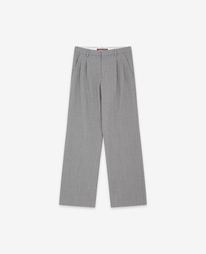 Weite Hose mit Wolle Grey Declic