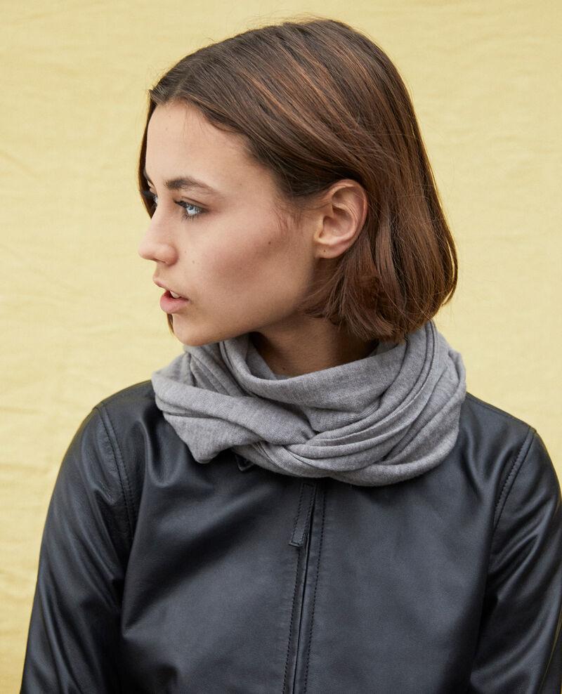 Schal aus Wolle Heather light grey Iwool