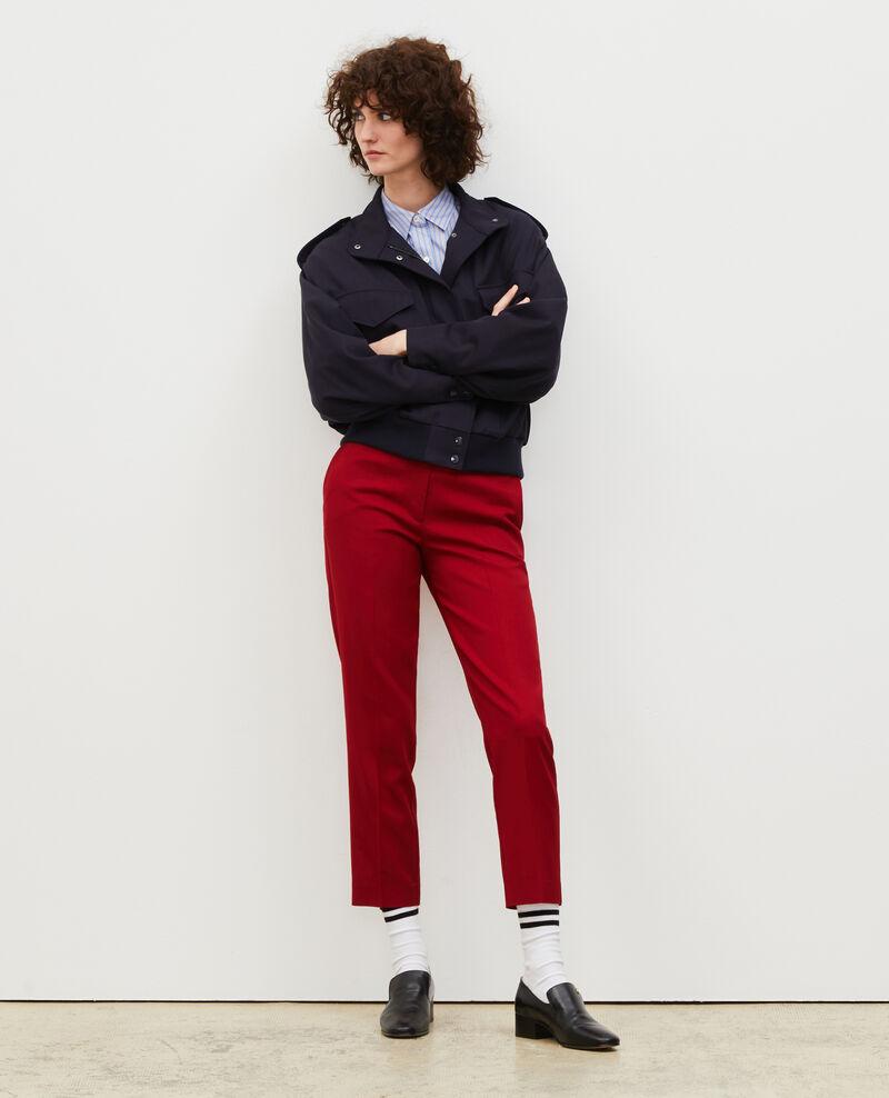 Hose MARGUERITE, 7/8-Zigarettenhose aus Wolle Royale red Moko