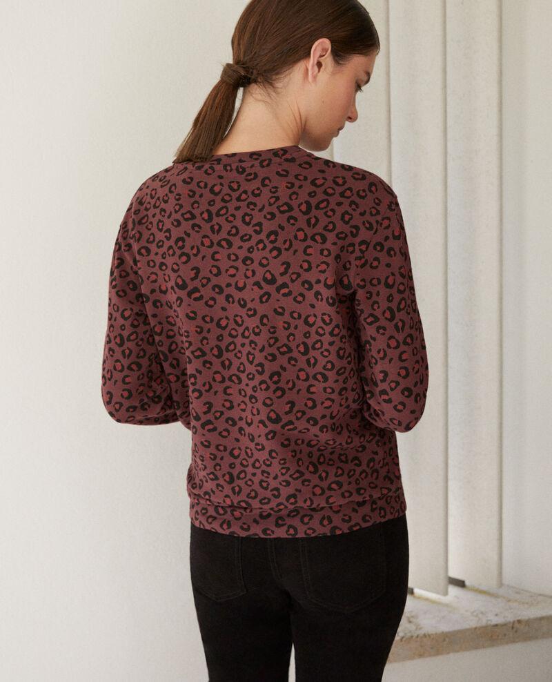 Sweatshirt mit Rundhalsausschnitt Braun 9gleon