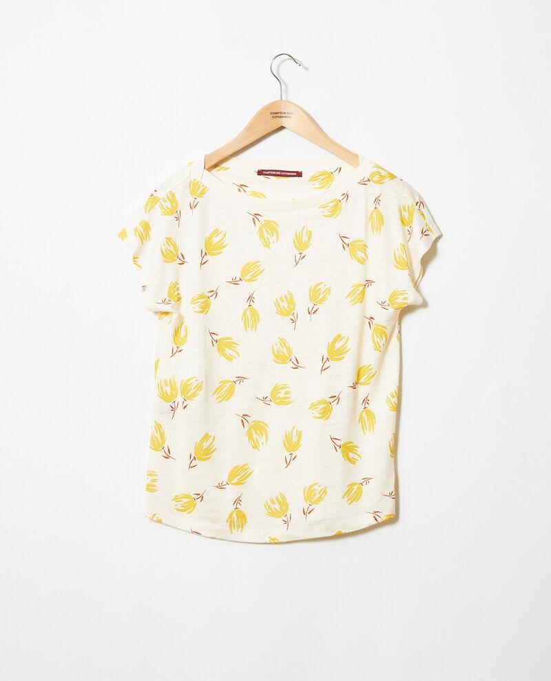 Shirt mit U-Boot-Ausschnitt aus Leinen  Tulip buttercream Jafleural