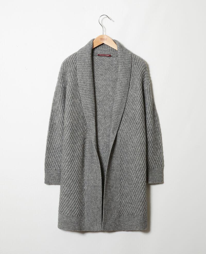 Rippstrick-Pullover Middle grey Jokin