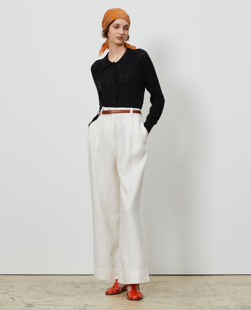 Cardigan aus Baumwolle und Leinen Black beauty Novo