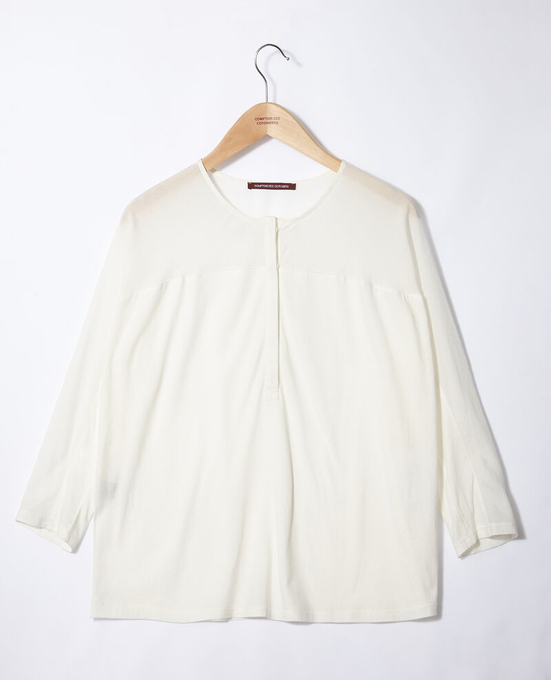 T-Shirt aus Bimaterial Weiß Genious