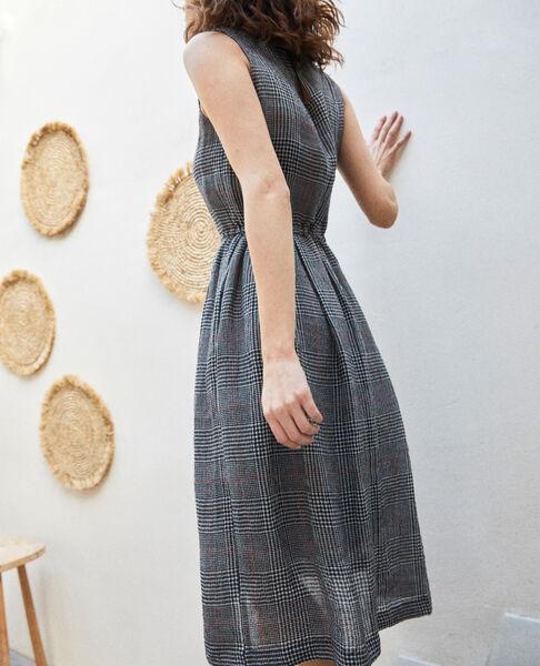Comptoir des Cotonniers - halblanges kleid mit leinen - 4