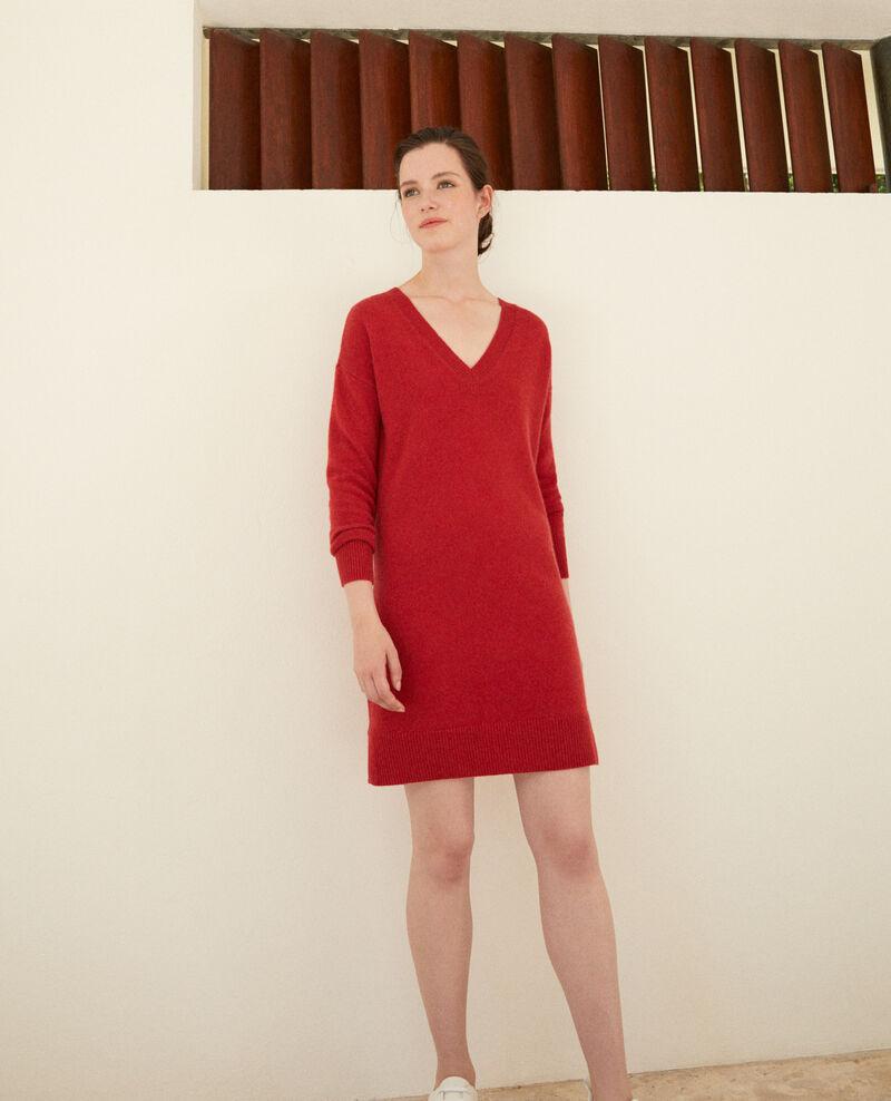 Kleid aus Kaschmir Pompeian red Gervina