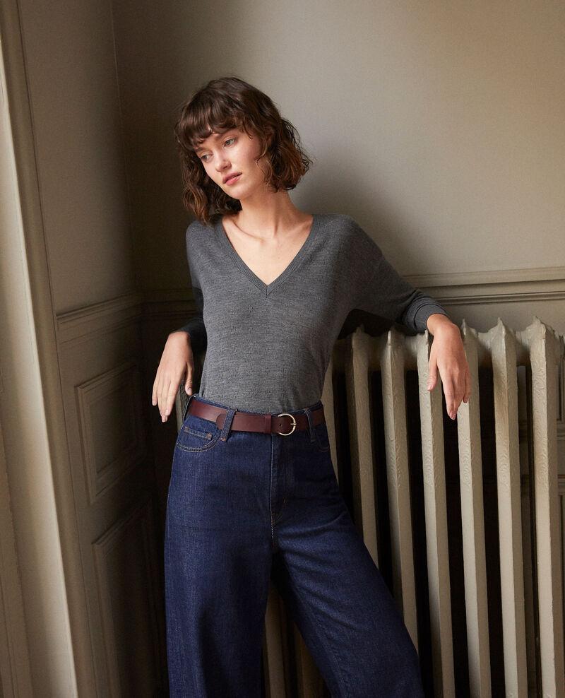 Pullover aus Merinowolle Grau Garago