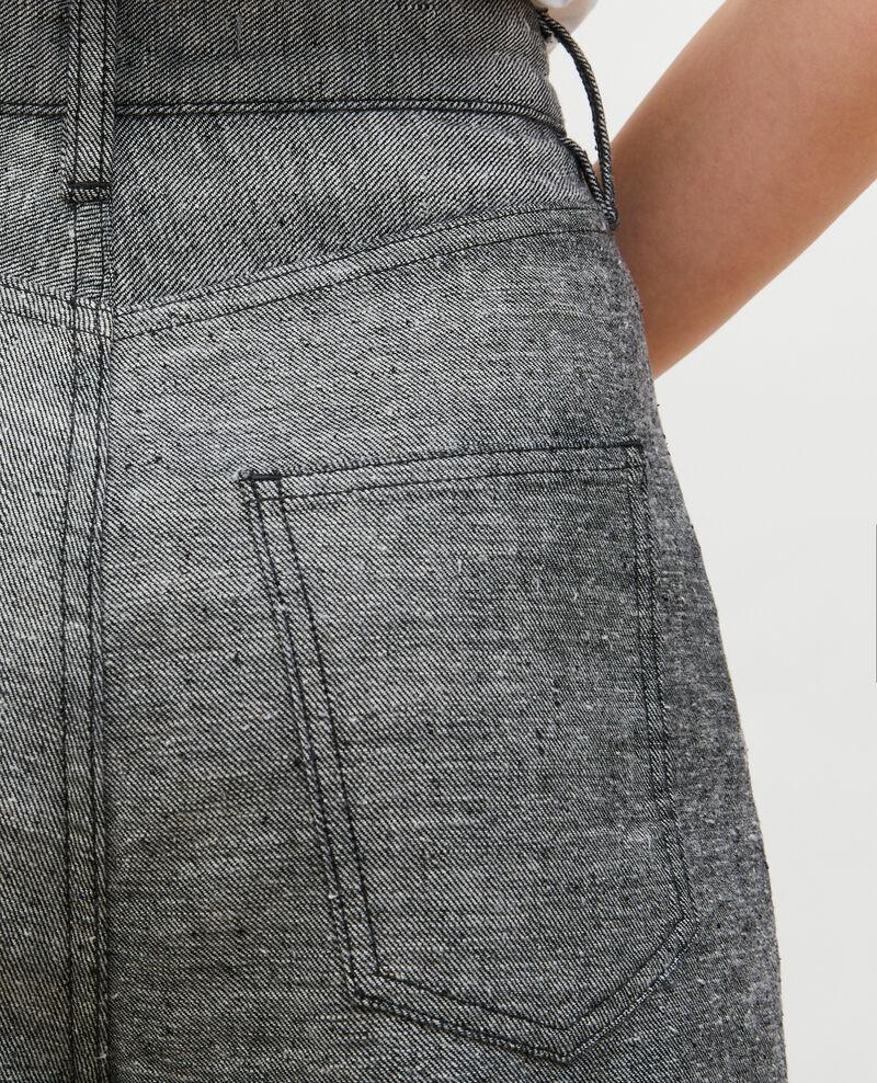 PLEATED - Weite Hose aus grauem Denim Grey wash Maples