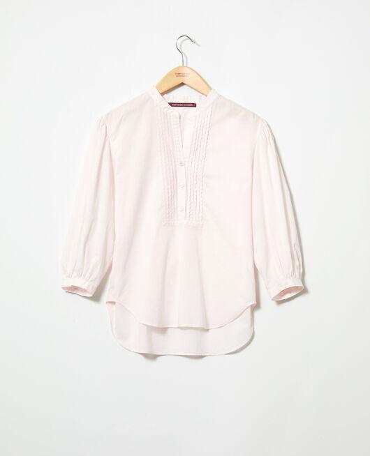 Bluse mit Plastron PINK