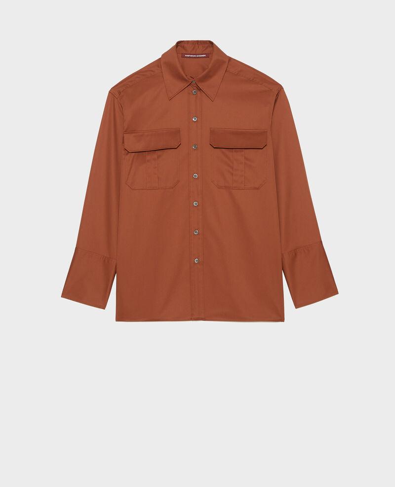 Oversized Herrenhemd aus Baumwolle Tortoise shell Mauryl