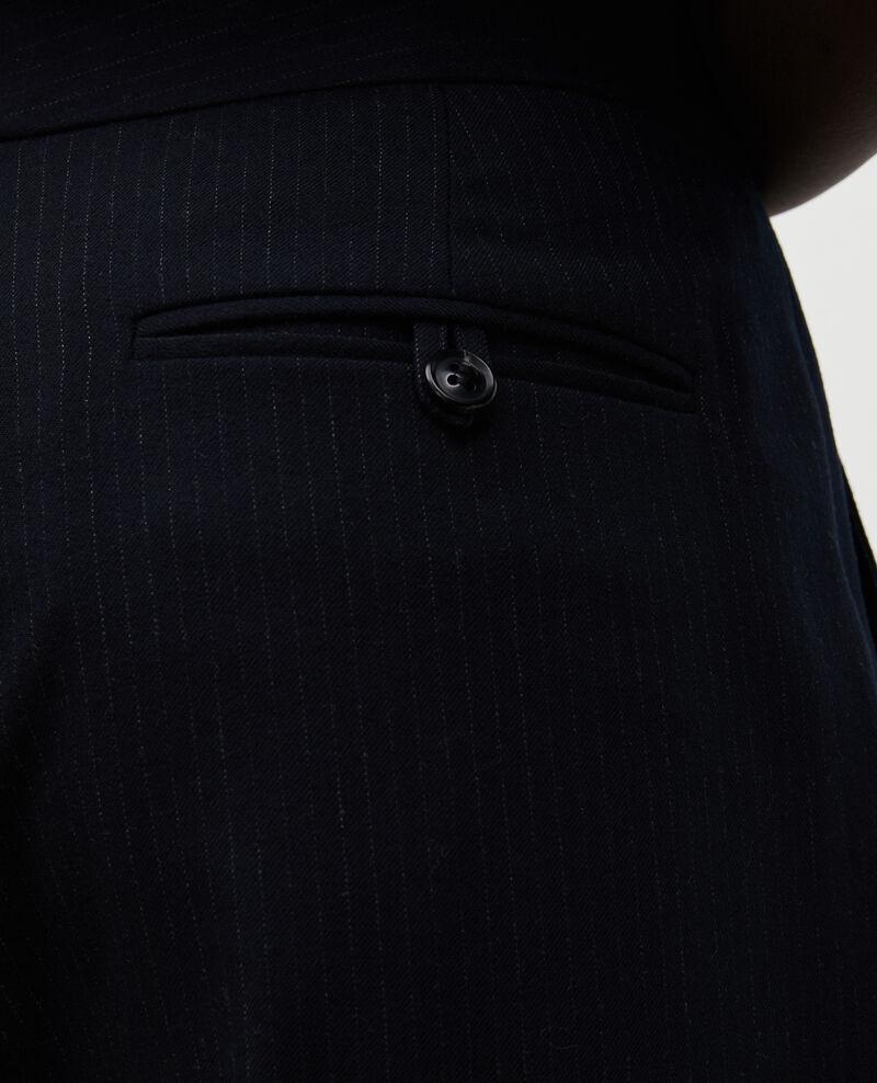 Anzughose MARCELLE, gerade aus Wolle  Night sky Misabeau