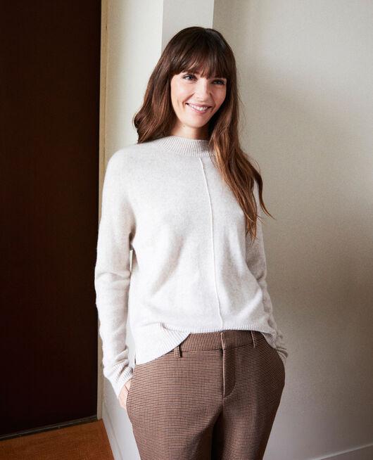 Pullover mit Knöpfen im Rücken 100 % Kaschmir BUTTERCREAM