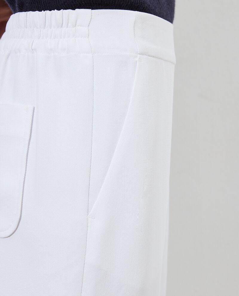 Hose fließender Fall elastischer Bund Brilliant white Luant