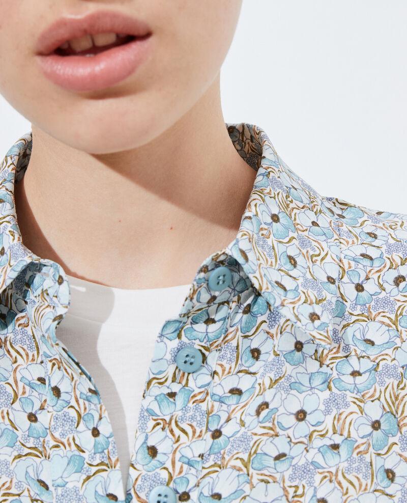 SIBYLLE - Langärmliges Seidenhemd Art deco blue Misabethou