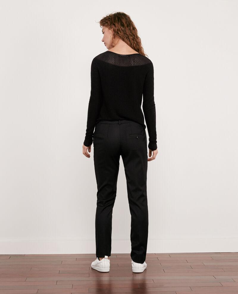Business-Hose aus reiner Baumwolle Noir Dari