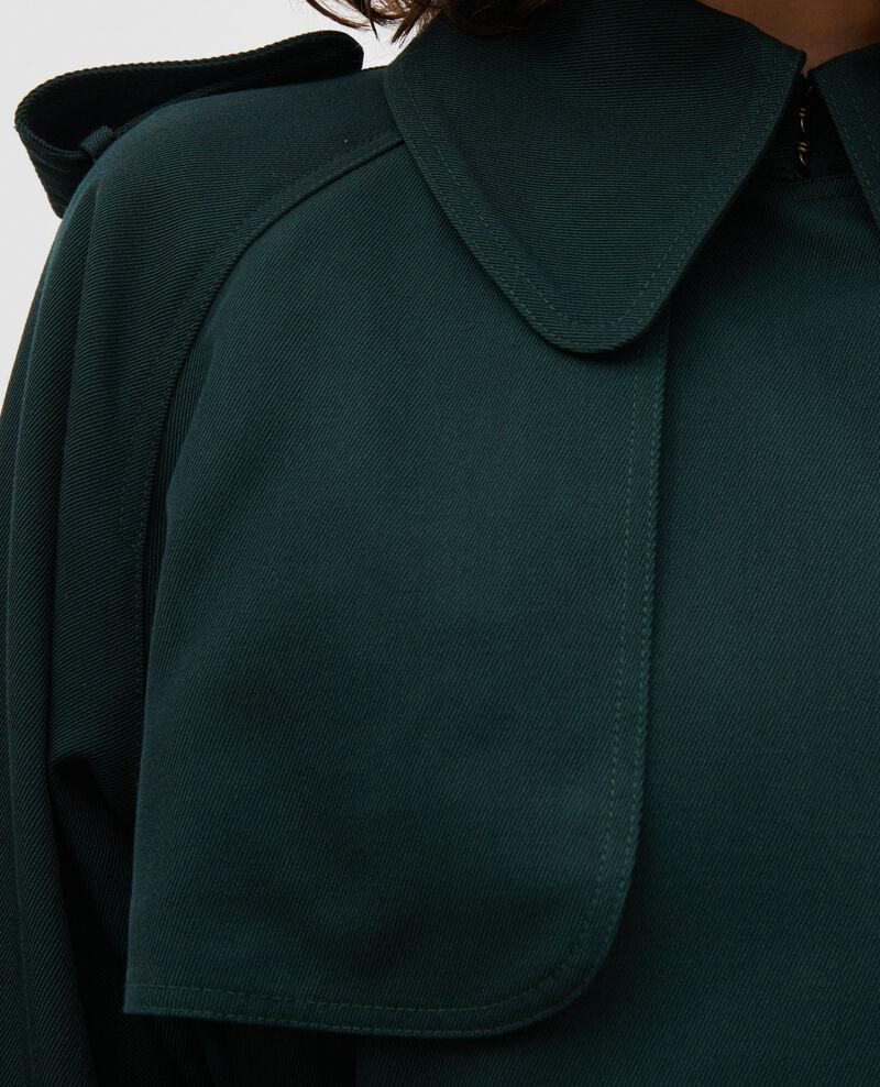 Langer fließender Trenchcoat aus Wolle Scarab Messimy