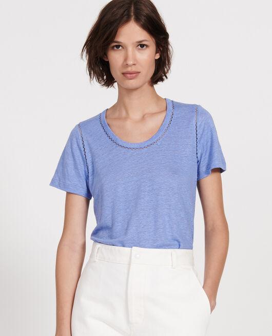 T-Shirt aus Jersey-Leinen PERSIAN JEWEL