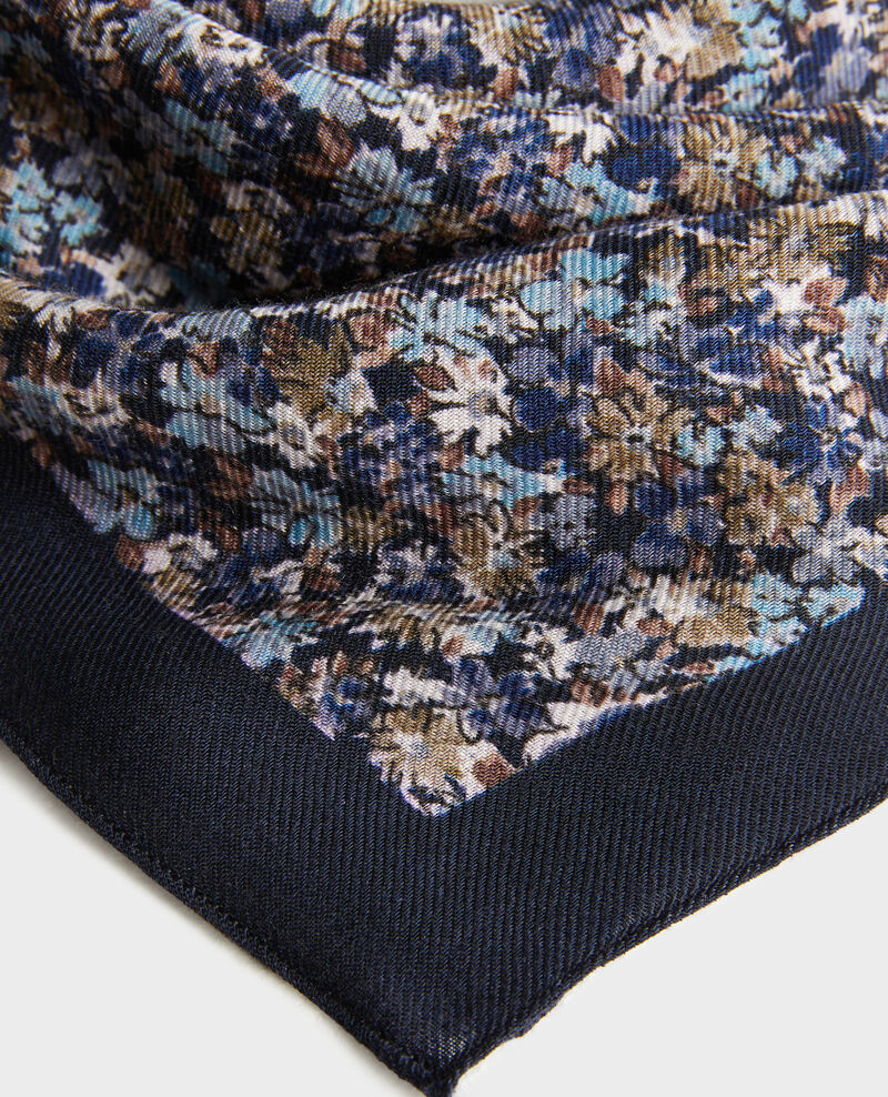 Gemustertes Wolltuch Stone blue Piberty