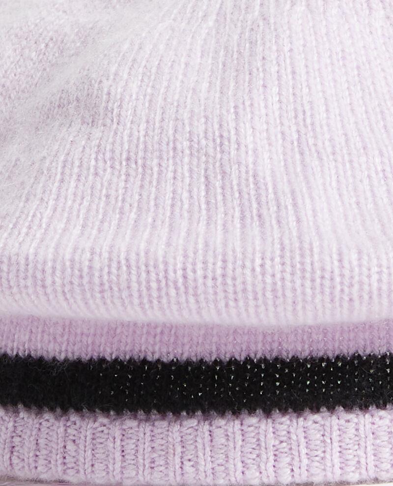 Barett aus Kaschmir Stripe lilac blackbeauty Mions