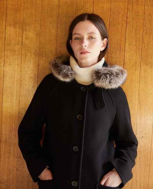 Mantel mit Kapuze NOIR
