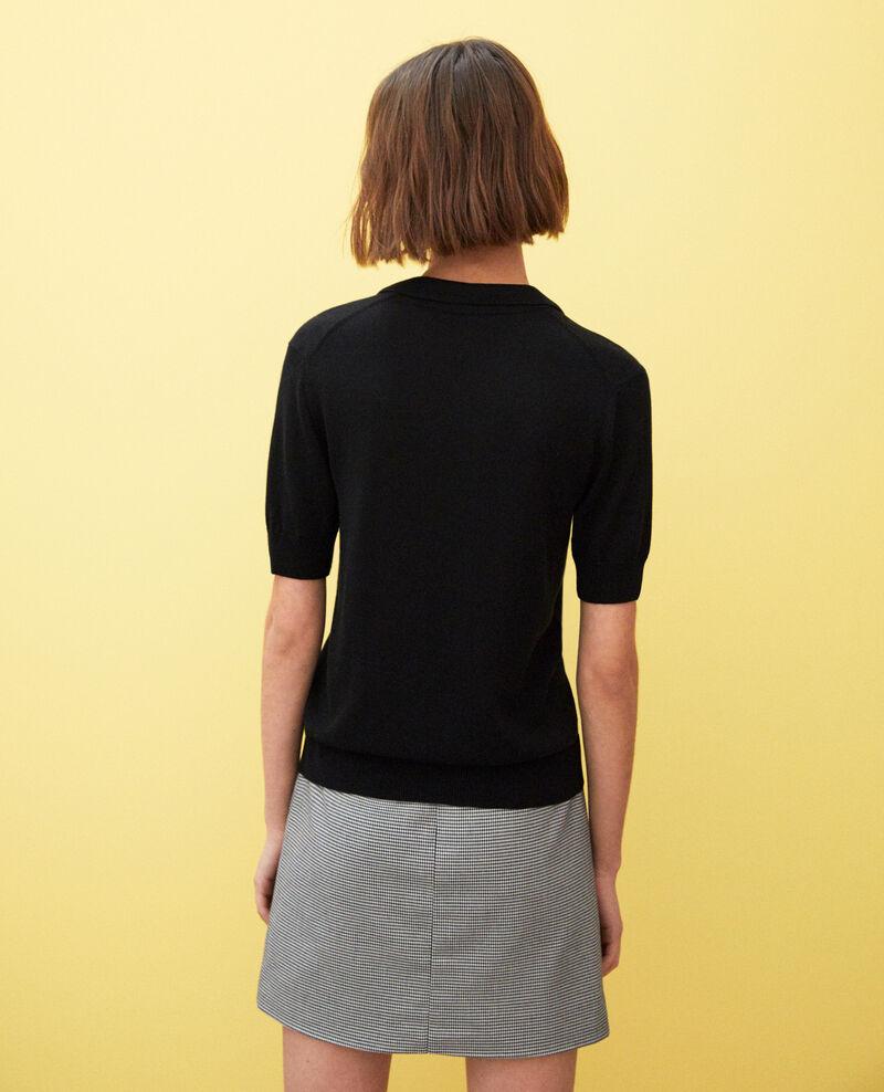 Strick-Poloshirt Noir Iconera