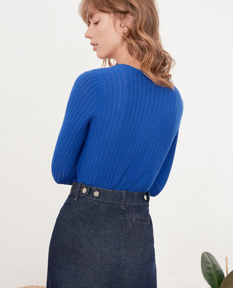 Kurzer Pullover Ultramarine Funky