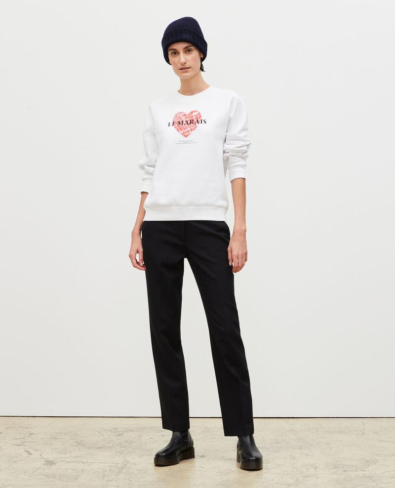 Sweatshirt aus Molton Brilliant white Madeleina