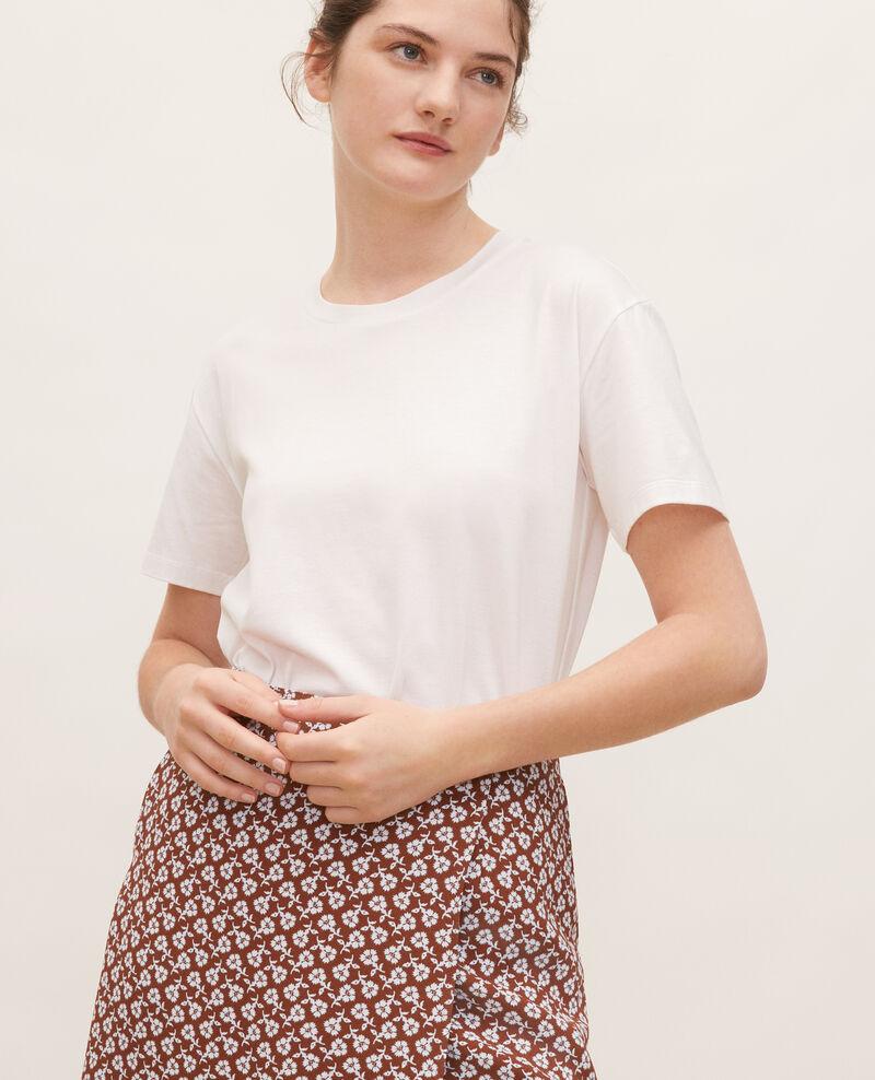 Kurzärmeliges T-Shirt aus Baumwolle Optical white Lirous