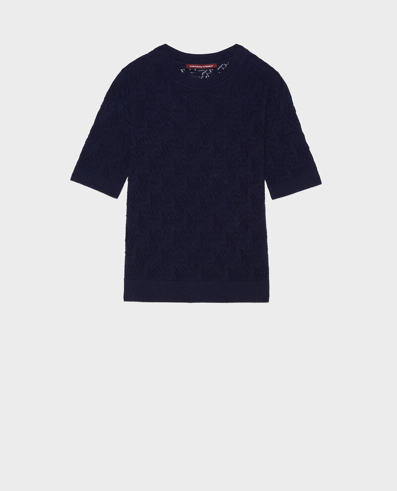 T-Shirt mit Pointelle-Muster Maritime blue Lagos