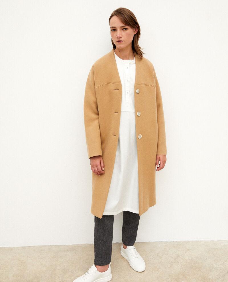 Mantel ohne Kragen Tannin Gilhard