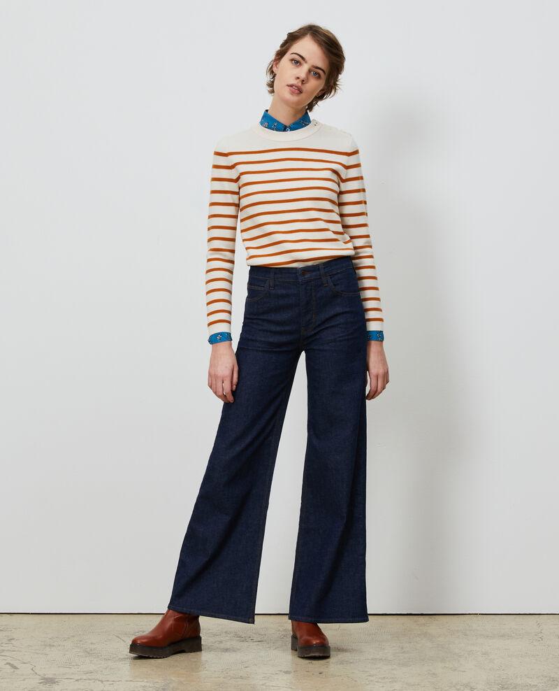 FLARE - Flare-Jeans mit hoher Taille Denim rinse Neuflize