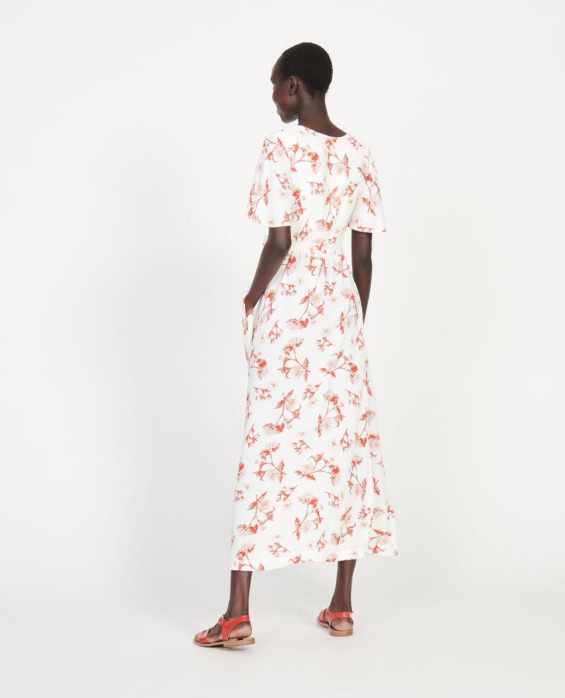 Langes Kleid Herbier gardenia ketchup Lavish