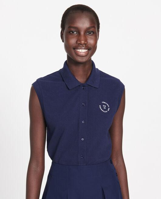 Polo-Shirt aus Piqué-Baumwolle MARITIME BLUE