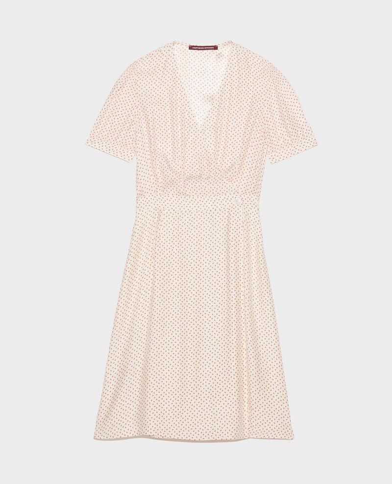 Wickelkleid aus Seide Memphis buttercream Leanie
