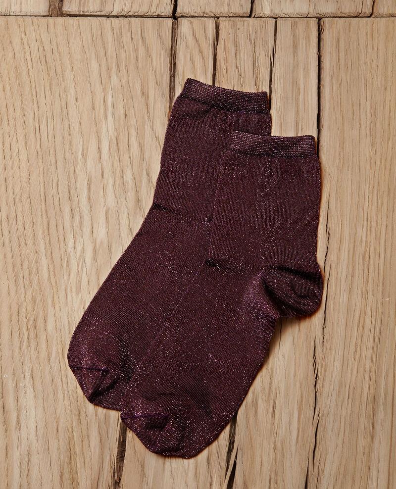 Socken mit Lurexgarn Parachute purple Gaussette