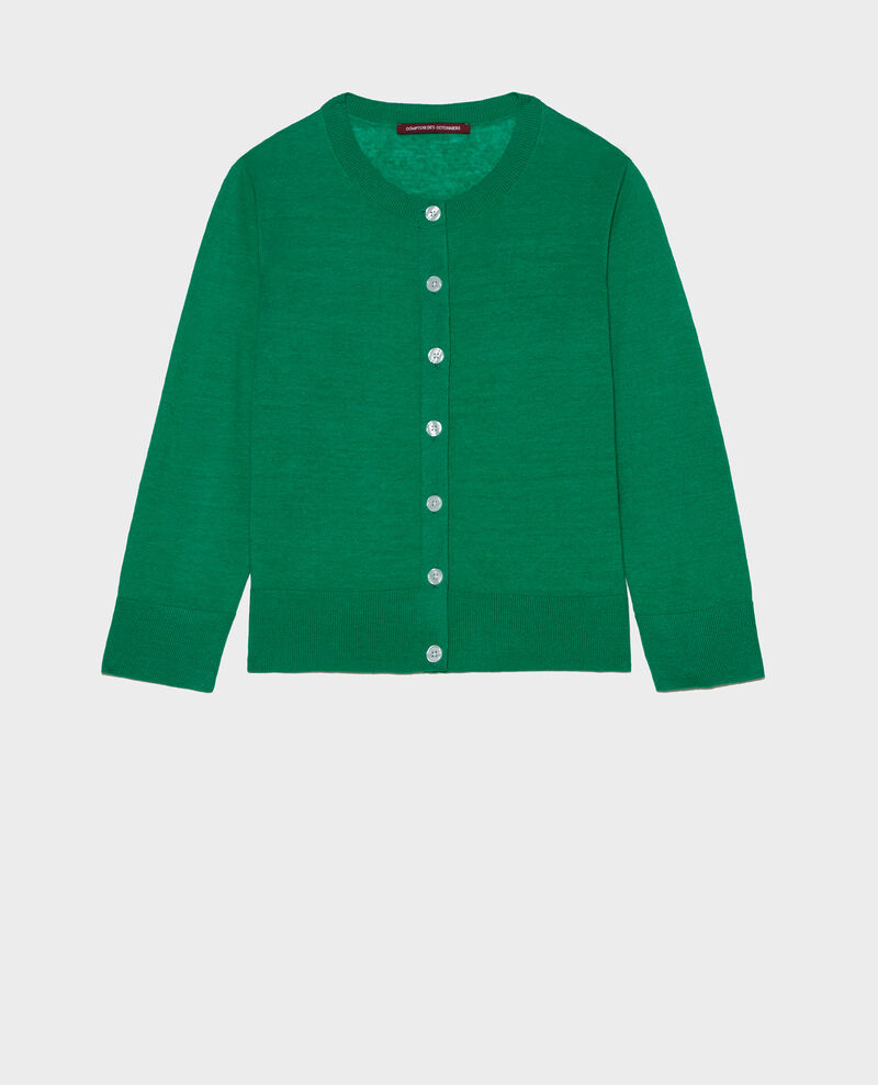 Cardigan aus Leinen Golf green Lagardi