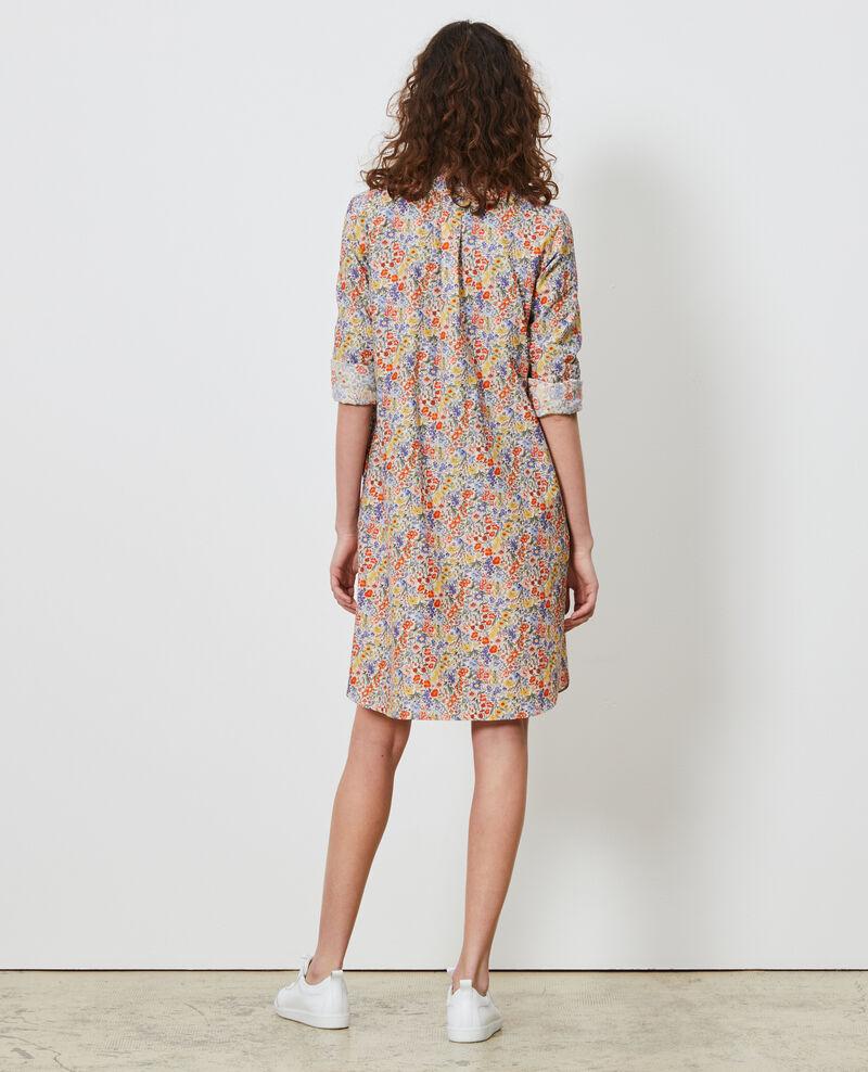 Hemdkleid aus Baumwolle und Seide Prairie gardenia Nyonsaise