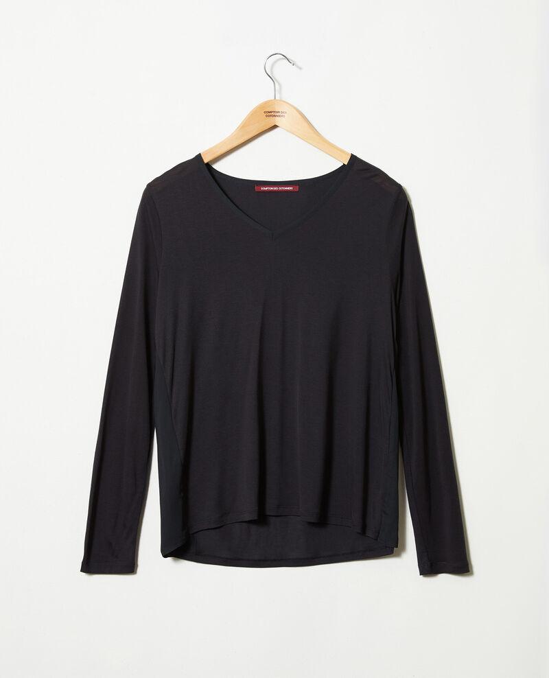 T-Shirt aus Bimaterial Noir Janga
