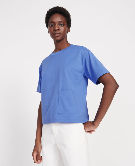 Boxy T-Shirt aus merzerisierter Baumwolle PERSIAN JEWEL